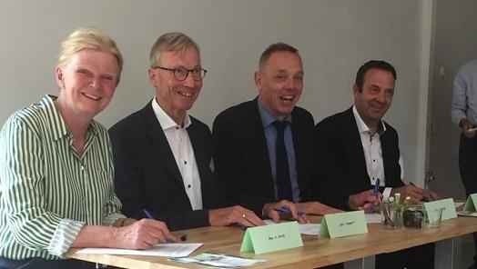 Ondertekening samenwerkingsconvenant groene tuinen in de wijk Steenbrugge